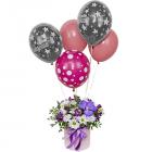 Композиция «Воздушный замок» с гелиевыми шарами